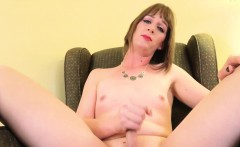 Amateur Tranny Toying Her Cock With A Wand