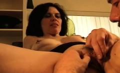 swinger brunette fucks in front of husband with a stranger
