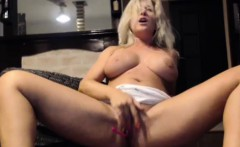 Hot Busty Milf Masturbates With Toys And Squirts
