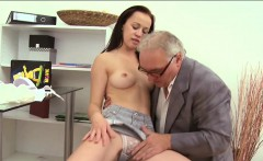 pleasant hotty gets a wild drilling from horny old teacher
