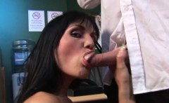 ben dover giving brunette double penetration