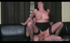 horny brunette slut going crazy riding