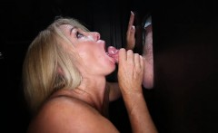 Cock Number 7 Pushes Through The Hole And She Takes His