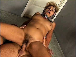 Unknown hairy Hungarian blonde granny anal piss