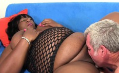 Black BBW Daphne Daniels Pleases a Guy with Her Fat Body