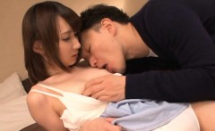 Babe from japan with great body is having sex with sexy pal