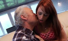 Old Man Falls In Love With Beautiful Young Redhead Teen