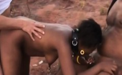 Naughty African Bitch Likes Rough Anal Treatment