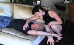 Beauty Ties Up Her Dude And Smothers Him With Her Great Ass