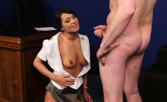 horny beauty gets cum load on her face eating all the cum94t