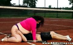 Her fat love match continues on the tennis court