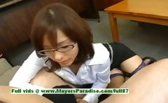 Nao Ayukawa hot girl naughty Chinese teacher rubs her tits