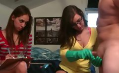schoolgirl girls playing with dildo dick