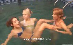 Three lithuanian teenies in the pool