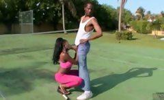 Afro Black Teen Sucking Black Cock