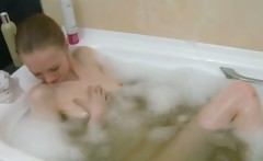 Russian super bony girl in the shower