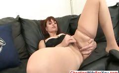 Mature wife masturbates