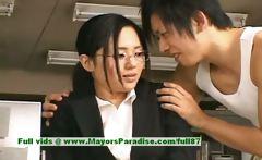Sora Aoi innocent naughty asian secretary enjoys getting