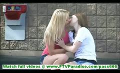 Nikkie and Aubrey lovely amateur lesbian couple in skirts