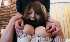 Pantyhose clad Maria Amane finds her pussy fingered until