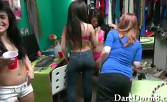Amateur college teens insane dorm party where dicks are