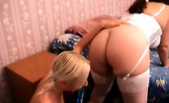 Nasty hot teen blonde and brunette whore