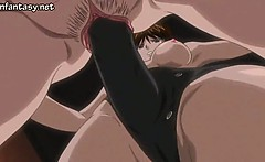 Anime lesbians licking in sixtynine