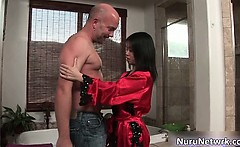Sexy asian brunette hoe gets aroused