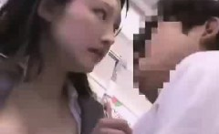 Japan Office Lady Fucked Right Through Her Pantsuit