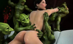 3D Ogres and Trolls Fuck Girls!