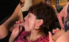Mature Russian In A Foursome With Young Guys