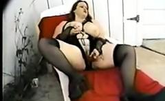 Big Latina In Lingerie Masturbates With A Toy