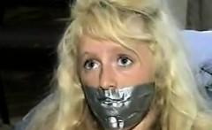Cute Blonde Slave Duct Taped Classic