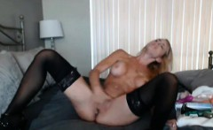 Gorgeous Blonde Babe Sucks and Ride her Toy