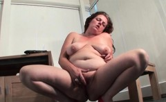 Mature on heels rubs and dildos bald pussy