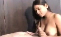 Busty Indian Teen Girl Pleasing A Cock