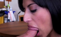 Latina Maid Soffie Sucking Her Masters Cock