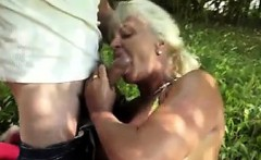 horny granny get fucked in the garden - Fuck from MILF-MEET.