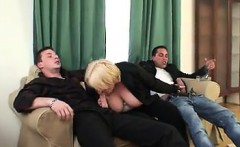Two dudes bang boozed old granma - Date her on MILF-MEET.COM