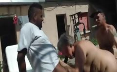 French BBW fucked in a threesome