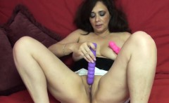 Alesia Pleasure uses her dildos on her wet twat