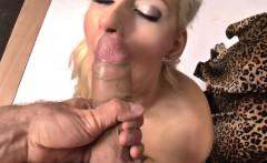 Slim blonde lady Lenny Elleny sucks a dick