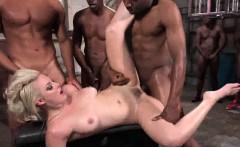 Jenna Ivory gets ebony anal gangbang