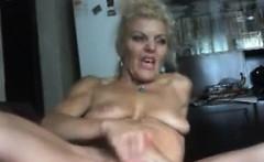 Mature Blonde Whore Masturbates
