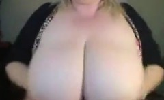 Fat Blonde With Large Breasts