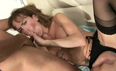 Dick in a mouth and finger in the ass