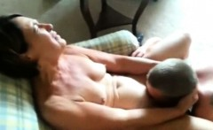 Mature beauty has her pussy eaten by her BF