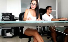 Webcam is set up and a hot couple gets naked to suck on som