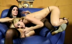 Lustful girls indulge in torrid lesbian sex and release their juices