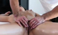 Brunette Shane Blair Fingered And Sucking On Table